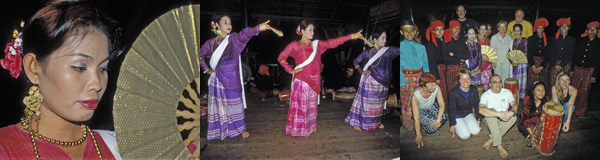 Traditional indonesian dancing